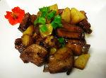 Costillas asadas con patatas