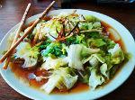 Lechuga hervida con salsa de soja