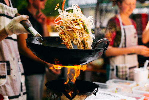 Degustación comida china casera