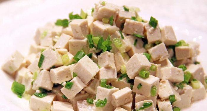 Receta de tofu marinado frío